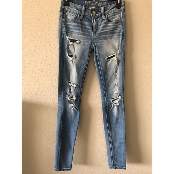 American Eagle Outfitters Denim - AE Destroyed Jegging
